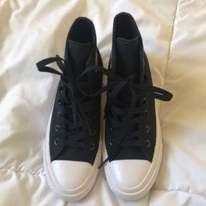 New black converse hi-tops. Big kids size 5